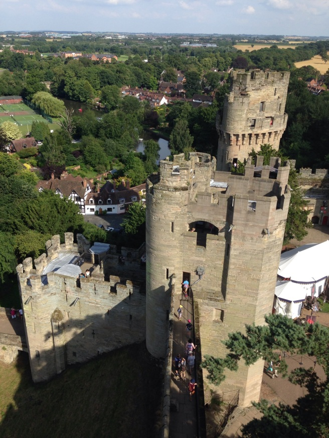 A shot of Warwick Castle. Go here, and watch a trebuchet firing.